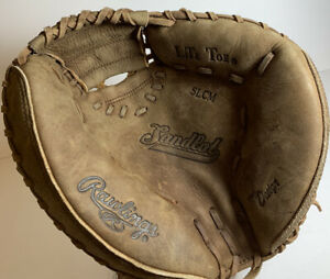 "RAWLINGS Catchers Mitt Glove RHT Lite Toe Fur SLCM 11.5"" Brown Baseball"