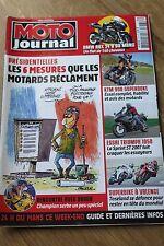 MOTO JOURNAL N°1757 TRIUMPH SPRINT ST, KTM 990 SUPERDUKE, 24 HEURES LE MANS 2007