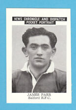 RUGBY  -  NEWS  CHRONICLE  -  RUGBY  CARD  -  JAMES  PARR  OF  SALFORD  -  1955