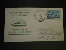 USS RIVERSIDE APA-102 Naval Cover 1946 LAST DAY LDPS Cachet
