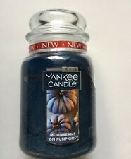 YANKEE CANDLE MOONBEAMS ON PUMPKINS 22 oz. LARGE JAR NEW SCENT HTF