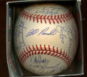 1997 Los Angeles Dodgers Team Signed ONL Coleman Baseball 30 Signatures