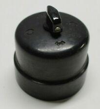 1 von 2 Drehschalter Siemens schwarz Bakelit Aufputz rotary switch black 1920