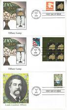 SSS: 3 pc Fleetwood FDC 2007, 2008  41c Louis Tiffany - Lamp PB  Sc #4165, 3749A