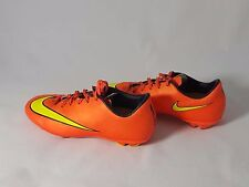 NIKE JR YOUTH MERCURIAL VICTORY V FG SOCCER CLEATS Neon (HYPER PUNCH) Size 4
