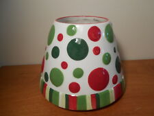 Polka Dots Yankee Candle Jar Topper for Large Candle