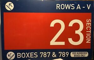 """Authentic Shea Stadium Section 23 Concourse Sign. MLB Hologram. NY Mets 30x47"""""""