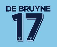De bruyne 17 manchester city 2016-2017 tasse nameset for home football shirt