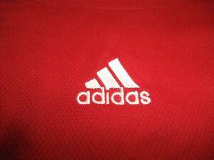 ADIDAS 3-STRIPED RED,WHITE & BLACK ATHLETIC SHIRT MEN'S SIZE 2XL
