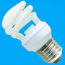 2x 14W Mini Spiral Low EnergyCFL Light Bulbs ES, E27, Edison Screw Lamps, Globe