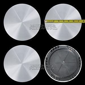 "4 CHEVY GMC 15"" Smooth Aluminum 5 Lug Wheel Center Hub Caps Hubs Rim Nut Covers"