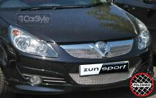 ZunSport Vauxhall / Opel Corsa D 2005 Polished Steel Mesh Full Front Grille Set