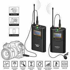 CVM-WM100 UHF Omni-Directional Wireless Lavalier Microphone System F DSLR Camera