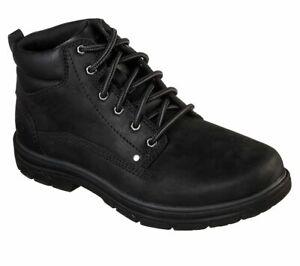 65573-Black Men's Skechers Segment Garnet Relaxed Fit Casual Boot New In Box