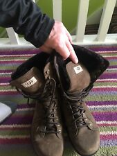 Ugg Sheepskin Lace Up Boots 8/9/10