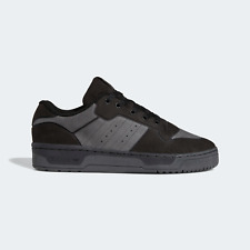 adidas Men's Originals Rivalry Low Suede Shoes in Black and Grey