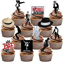 12 x Michael Jackson Cake Toppers Value Party Pack Fun Edible Decorations Bad
