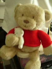 MOTHERCARE TEDDY IN RED JUMPER HOLDING SMALL TED 16""