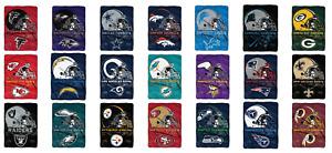 "NFL Prestige Raschel Throw Supersized Supersoft Royal Plush Blanket 60"" x 80"""