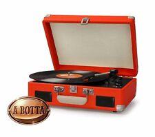 Giradischi Vintage Retrò AKAI R45 Arancio Bluetooth - Fonovaligia 33 45 78 Giri