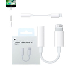 CAVO ADATTATORE ORIGINALI APPLE JACK AUX LIGHTNING PER CUFFIE IPHONE
