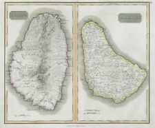 "St Vincent & ""Barbadoes"". Barbados. West Indies Caribbean. THOMSON 1830 map"