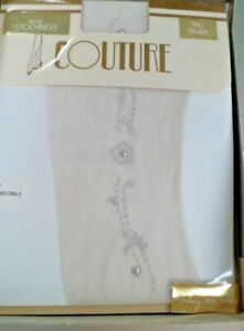 COUTURE MOTIF STOCKINGS SHEER SIZE AVERAGE   IVORY/PEARL