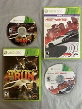 MICROSOFT XBOX 360 BUNDLE/LOT RACING NEED FOR SPEED: THE RUN + NFS Most Wanted