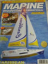MODEL BOATS MARINE MODELLING OCTOBER 2011 HMS CRANE PLAN CARRIBEAN SAINT TROPEZ