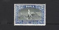 TONGA 1897, 2/- BLACK & ULTRAMARINE 'VIEW OF HAAPAI'  WMK SIDEWAYS CAT £32+ MH