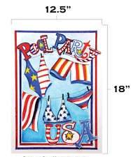 """Pool Party 12.5"""" x 18"""" Patriotic Summer Usa Swim Suit Garden Flag by Toland T3"""