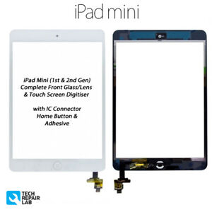 NEW iPad Mini 1 & 2 Complete Front Glass/Digitiser Touch Screen Assembly - WHITE