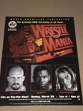 WWF POSTER - WRESTLEMANIA POSTER - SUMMERSLAM POSTER - SHAWN MICHAELS POSTER WWE
