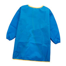 2 Toddler Kids Waterproof Long Sleeve Aprons Painting Smocks M Blue + Green