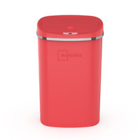 Kitchen Trash Can 13.2 Gallon Red with Motion Sensor, Stainless Steel