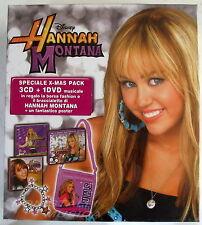 HANNAH MONTANA X-MAS PACK - BOX 3 CD + DVD Sigillato