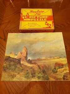 VINTAGE Mayfair Jig Puzzle Lure of the Desert COMPLETE Jigsaw USA Scroll Cut