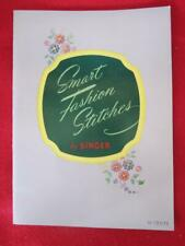New listing Vintage Smart Fashion Stitches By Singer Copyright 1950 1952