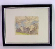 Josef MENG (1887-1974 Tirol) Buntstift Zeichnung - WILDER KAISER Tirol 1950