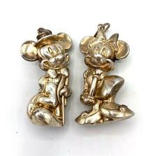 Cazenovia Abroad Sterling Silver Disney Mickey & Minnie Mouse Christmas Ornament