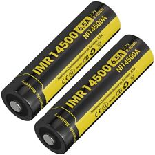 Nitecore IMR 14500 Li-ion Battery 2-Pk, Rechargeable, Pack of two, # NCNI14500A