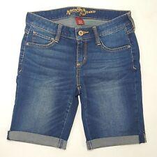 NEW Arizona Jean Company Denim Bermuda Shorts Bermudas Dark Wash Jeans Juniors 1