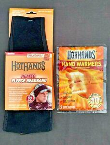HOTHANDS HEATED FLEECE HEADBAND w/ Extra Heating Pack  Hunting Skiing Snow Board