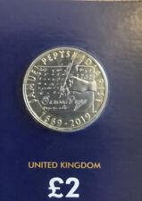 2019 Samuel Pepys Diarist Two pounds £2 Coin Brilliant Uncirculated BU UK BUNC