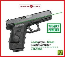 CRIMSON TRACE LG-639G LASERGRIPS Glock Cmpct Gen3 19/23/25/32/38, Gen4 19/23/32