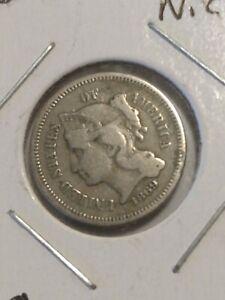 1869 Three Cents Nickel