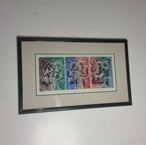 David Warren KAHA APO II Intaglio Print Line Embrace 9/35 Hawaiian Artist