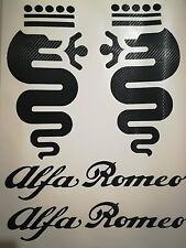 ADESIVI ALFA ROMEO CARBONIO GIULIA,GIULIETTA,MITO,147,BRERA,4C BISCIONI  40cm