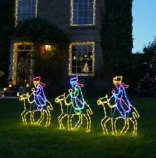 Plug In Outdoor LED Rope Light Nativity Silhouette Christmas Motif
