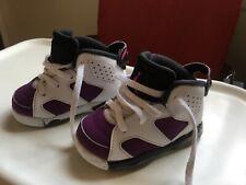 Air Jordan 6 Retro Bright Grape Toddler sz 5 Gently Used Purple Pink White Girl